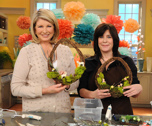 The finished wreathes! Photo: David E. Steele/The Martha Stewart Show