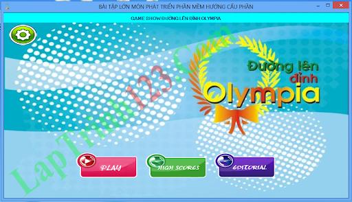 Game Đường lên đỉnh Olympia bằng  C#