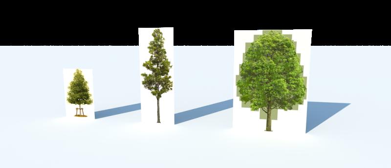 การกำหนดค่า Material ของต้นไม้แบบ 2D ให้มีความโปร่งใส Vraytree04