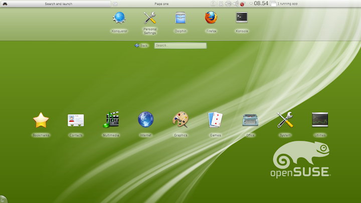 openSuSE 12.1 KDE Netbook