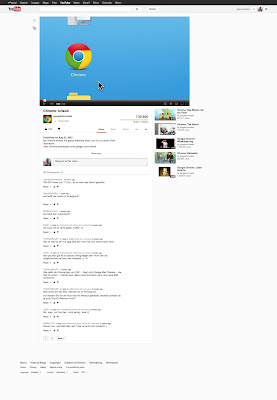 YouTube Design im September 2012 - Videoseite