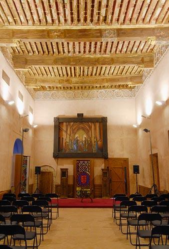 Salón Dorado del palacio del Papa Luna en Illueca