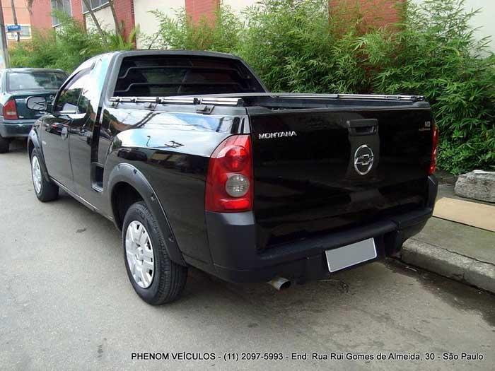 Chevrolet Montana Conquest Flex 2007 Preta - Preço R$ 24.700