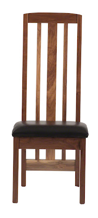Montreal Dining Chair in Natural Walnut with Leather Seat