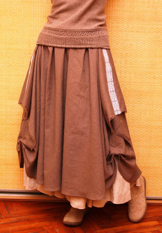 Как я переделывала юбку в бохо