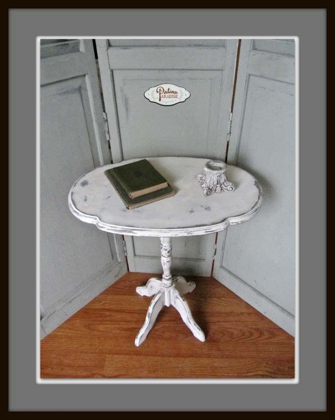 Tilt Top Table Gets an Antique Paint Finish