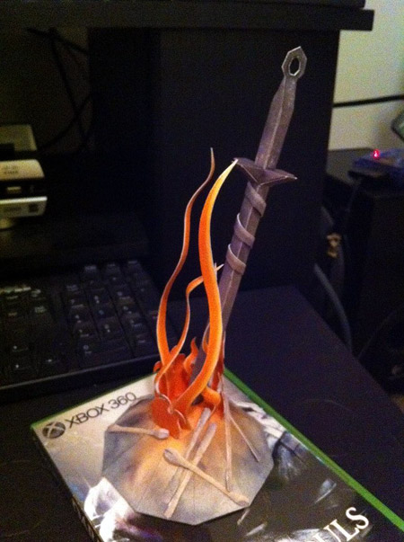 Dark Souls Papercraft Bonfire