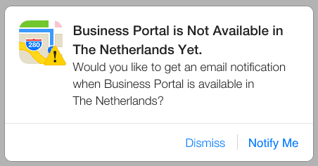 Apple Business Portal nog niet in Nederland