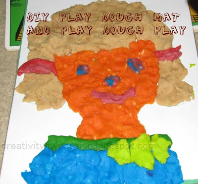 Make your own Dry erase Play dough mat