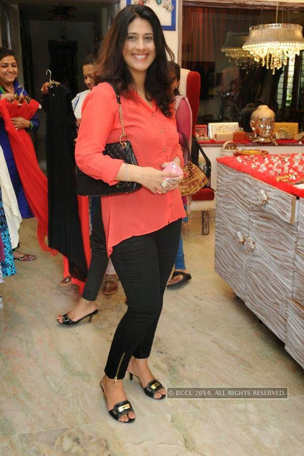 Harsha during a fashion exhibition in Hyderabad.