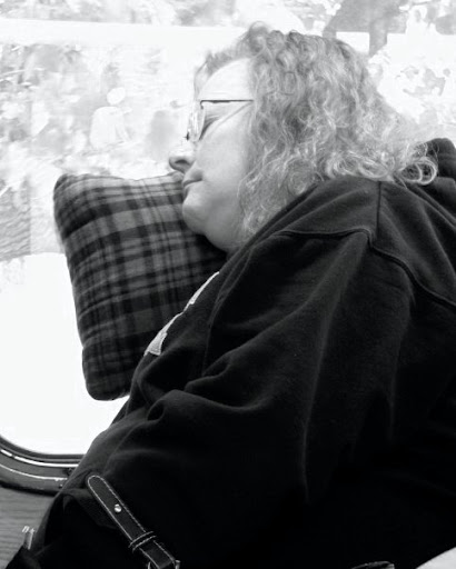 Woman Sleeping on the Bus