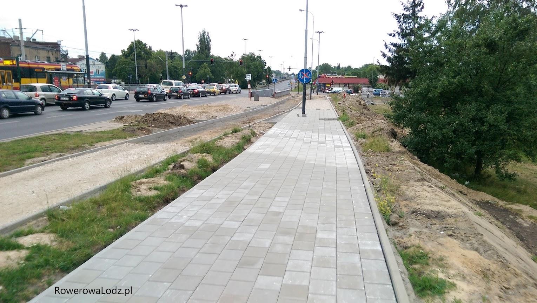 Skrzyżowanie z ul. Odrzańską