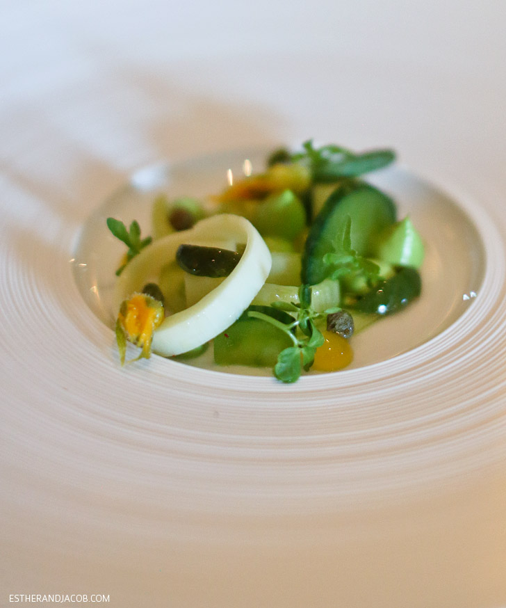 Salade Vert on the French Laundry Restaurant Menu.