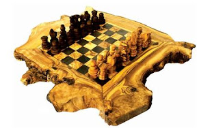 Olive wood chessboard