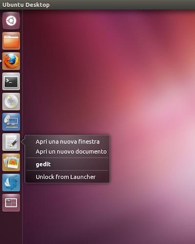 Ubuntu 12.04 Gedit QuickList