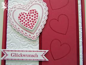 stampin up, wedding, hochzeit, famose fähnchen, hearts a flutter, bitty banners