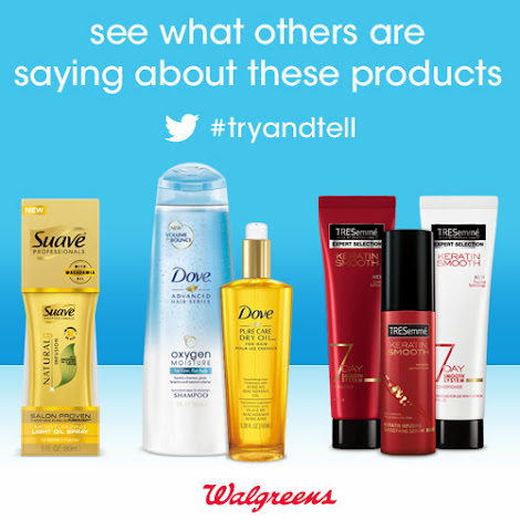 Suave, Dove & TRESemmé Hair Care Products at Walgreens #TryAndTell