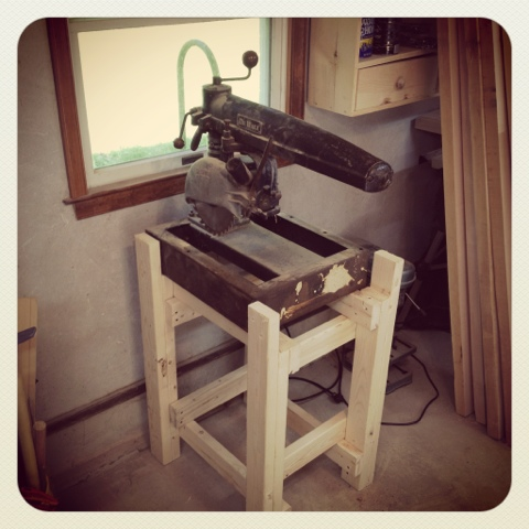 Cherry Blossom Enterprises Woodworking Blog Radial Arm Saw Stand Finished