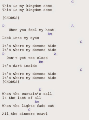 Guitar Chords : Demons - Imagine Dragons Guitar Chords