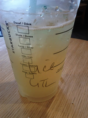 Light ice green tea lemonade