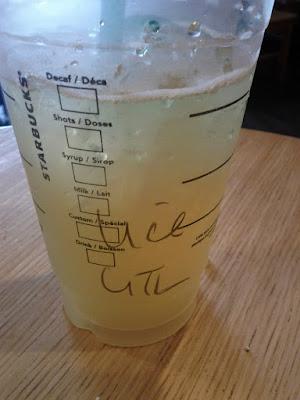 Light ice green tea lemonade
