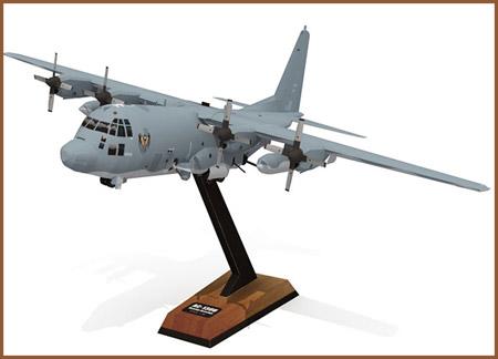 AC130U Spooky II Papercraft Gunship