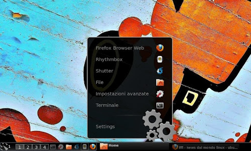 Panel Docklet su Gnome Shell