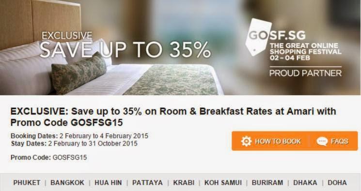【勁抵】泰國Amari酒店少有65折優惠,包括普吉、曼谷、華欣、芭堤雅、蘇梅等,10月前入住。