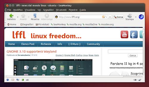SeaMonkey su Ubuntu