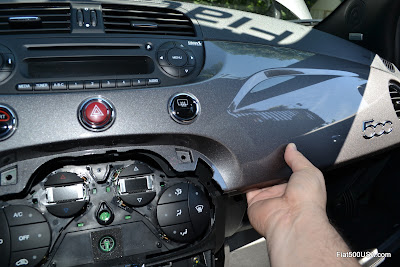 Fiat 500 Abarth dash panel removal