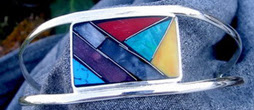 02 Stone Mosaic Bracelet   BZ-006