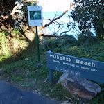 Sign for Obelisk Beach (57362)