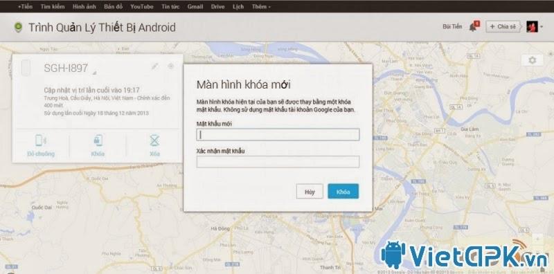 Tìm lại điện thoại Android bị mất một cách dễ dàng