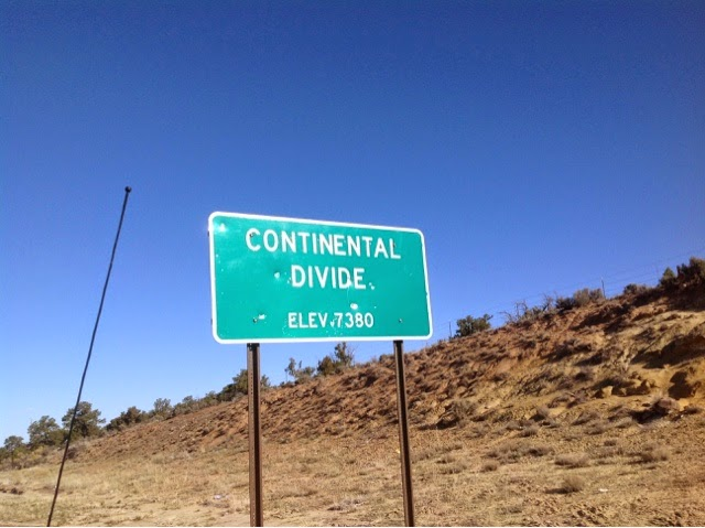 Road Sign - Continental Divide