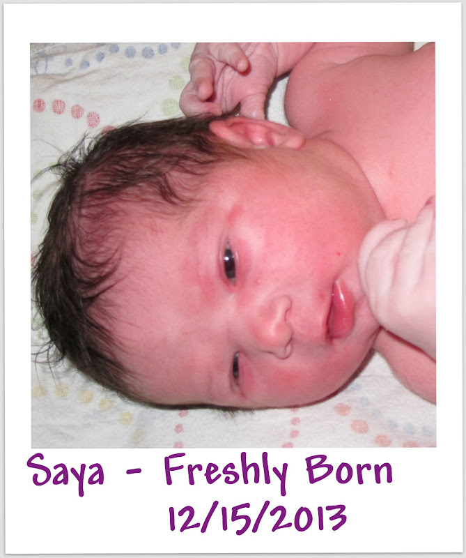 Happy 1st Birthday from Spirit of Life to Saya