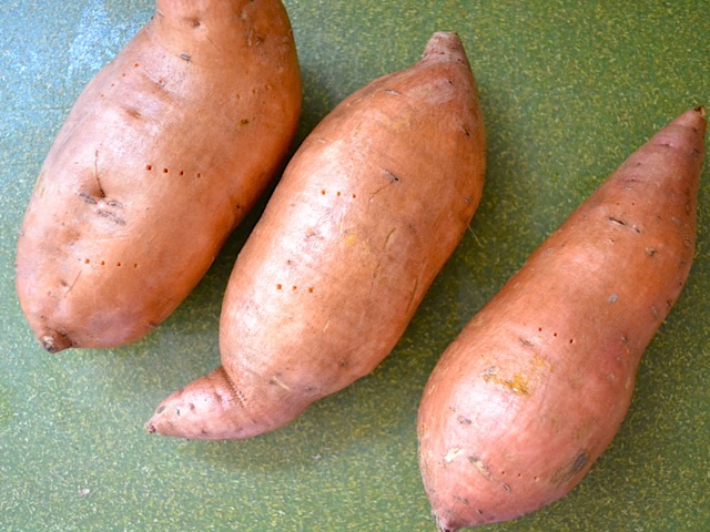 prep sweet potatoes