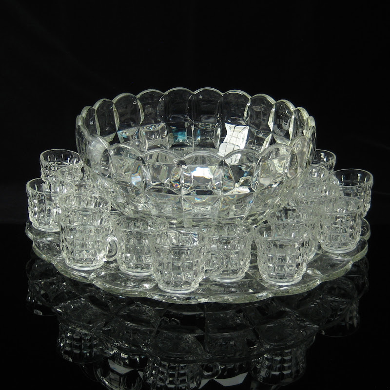Richards and Hartley Late Block Punch Bowl Set