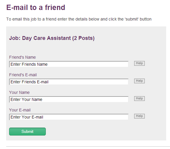 Derbyshire Send to a Friend form