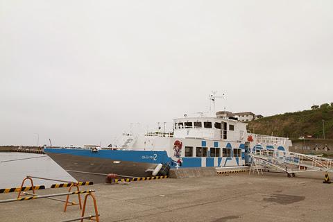 羽幌沿海フェリー 高速船「さんらいな2」 天売島にて