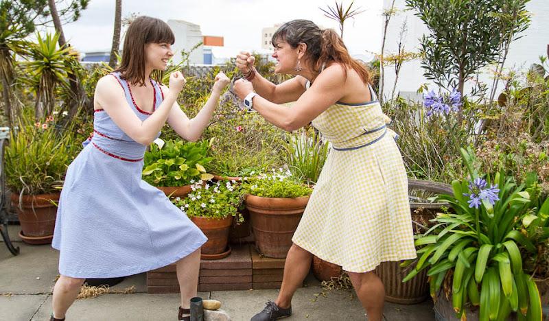 Blue Seersucker Dress - Fist Fight