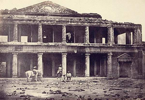 Old India Photos - Sikandar Bagh Lucknow right after the freedom fight of 1857