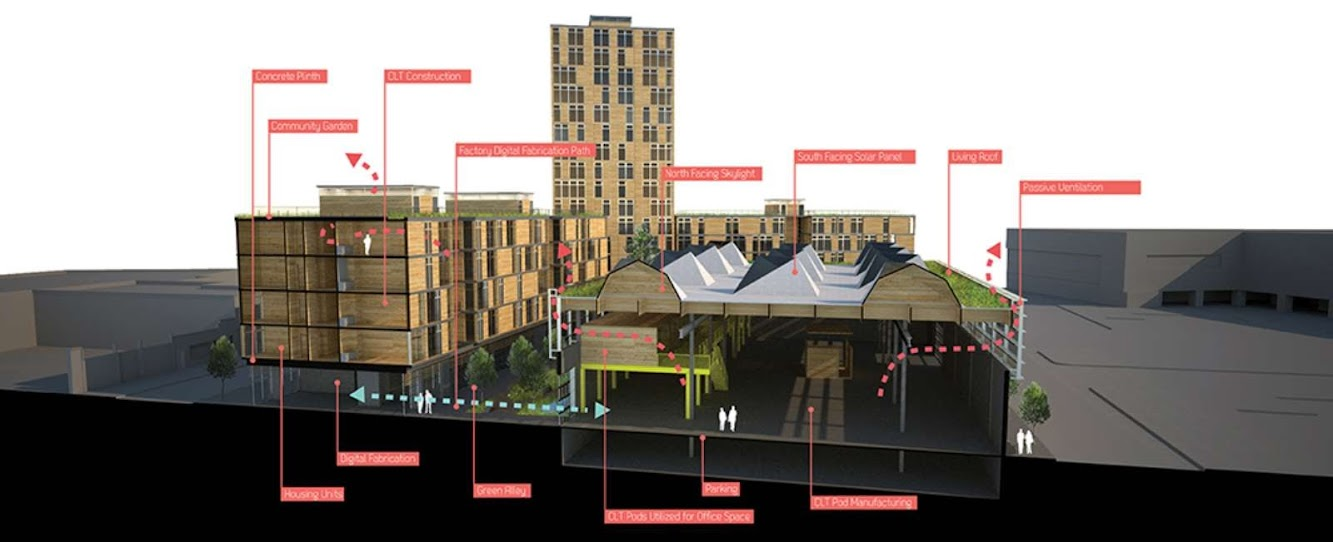 Timber in the City competition First place