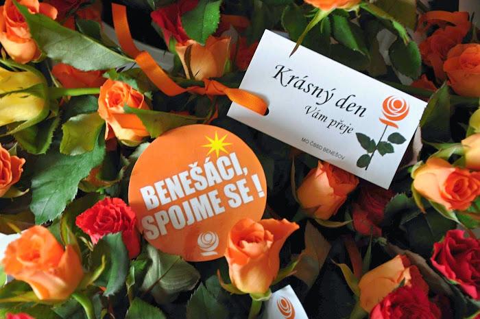 Růže s přáním k MDŽ
