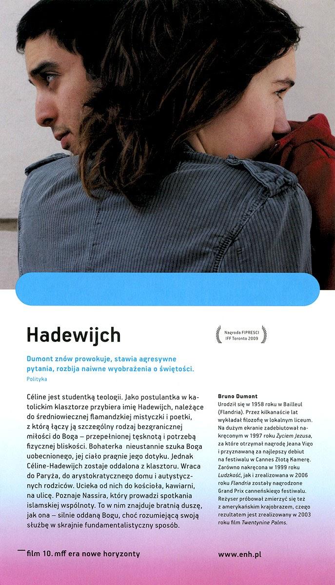 Ulotka filmu 'Hadewijch (tył)'