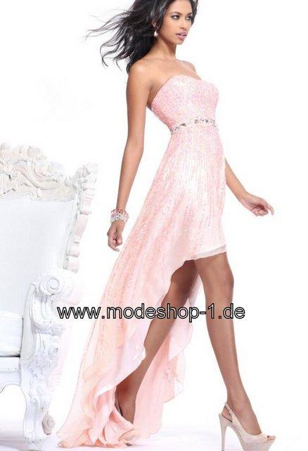 vokuhila abendkleid mit pailetten stick in rosa mode abendmode schwarz abendkleider abendkleid. Black Bedroom Furniture Sets. Home Design Ideas