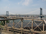 That's the Manhattan Bridge, which carries some subways where you can get a FANTASTIC view of the Bridge from