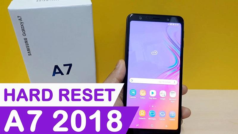 Hard Reset Samsung Galaxy A7 2018