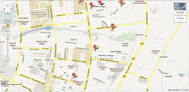 IBOOKS College Bhubaneswar Area Map