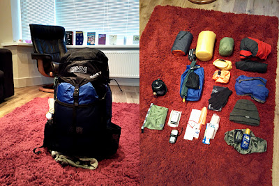 Kit, packed and unpacked