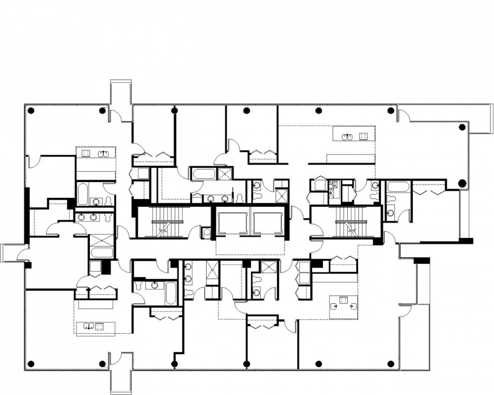 Space72 contemporaine for Typical house floor plan